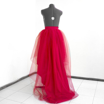 Black High Low Tulle Skirt Tiered Tulle Maxi Skirt Wedding Tiered Tulle Skirt  image 3