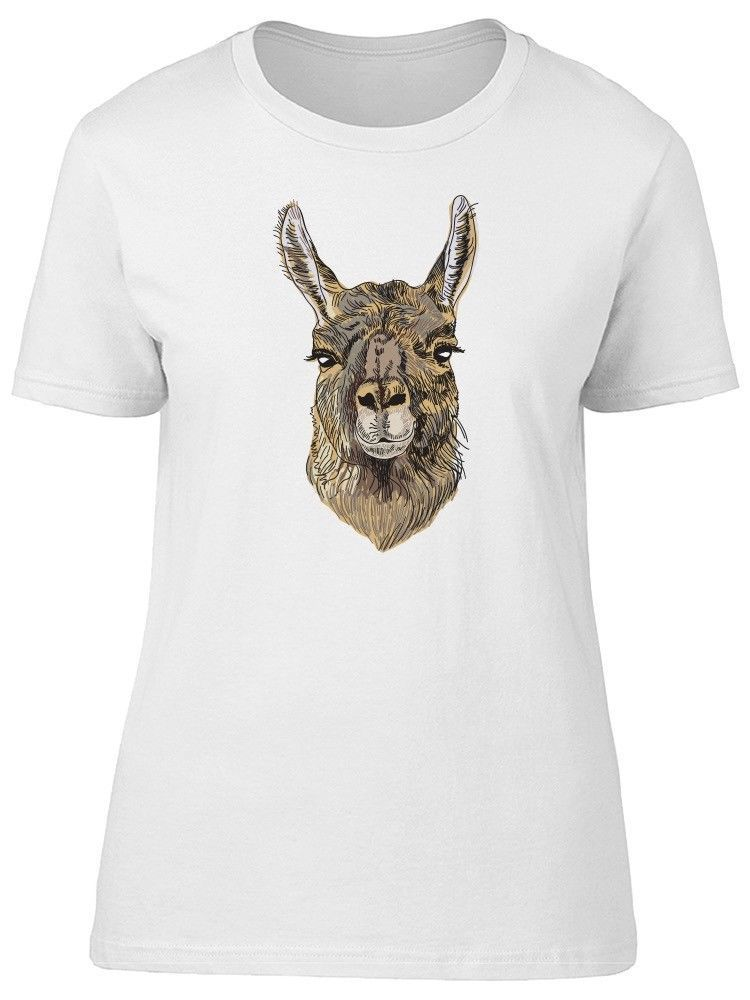 Primary image for Cute Grunge Alpaca Llama Cartoon Women's Tee -Image by Shutterstock