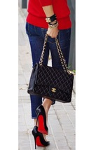 AUTHENTIC CHANEL BLACK QUILTED CAVIAR MAXI CLASSIC DOUBLE FLAP BAG GHW image 14