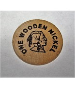 1789-1989 MILLERS CORNERS IONIA NY WOODEN NICKEL BICENTENNIAL TOKEN - $6.92