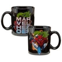 Marvel Comics Heroes Illustrated 12 oz Ceramic Coffee Mug NEW UNUSED - $5.94