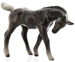 Hagen-Renaker Miniature Ceramic Horse Figurine Silver Black Morgan Colt image 12