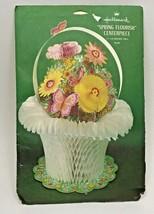 Easter Honeycomb Spring Hallmark Vintage Centerpiece Decoration Die Cut Basket - $24.74