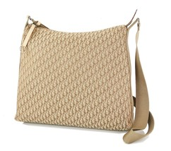 Authentic CHRISTIAN DIOR Brown Trotter Canvas Shoulder Bag Purse #34117 - $329.00