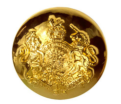 "Ralph Lauren Coat of Arms Gold Color Replacement Pocket Sleeve button .60"" - $4.12"