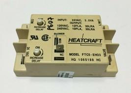HeatCraft Fan Relay Control Board FTC5-EH03 HQ1065188HC used #P607 - $102.85