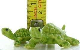 Hagen Renaker Miniature Turtle Mama and Baby Ceramic Figurine Set image 2
