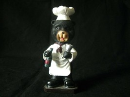 Bobblehead Black Bear Chef with Wine & Glass Approximately 5.5 inches - $9.46
