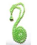 Knotted Green Quartz Meditation Mala Necklace Bracelet Handmade Fashion ... - $12.86