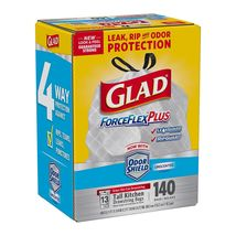 Glad ForceFlexPlus Tall Kitchen Drawstring Trash Bags, Unscented, 13 Gal... - $25.00
