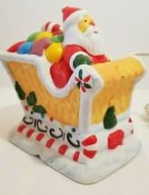 MIB 1985 Porcelain Santa Claus & Gingerbread Sleigh Christmas Night Ligh... - $9.70