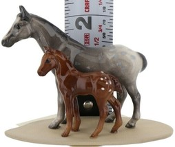 Hagen Renaker Miniature Horse Appaloosa and Colt on Base image 2