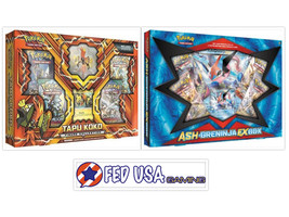Tapu Koko Figure Collection & Ash Greninja EX Box POKEMON TCG 8 Booster ... - $54.99