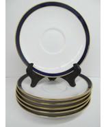 """Spode Consul Cobalt Bone China 5 3/4"""" Saucers Set Of  6 Saucers GUC - $57.82"""