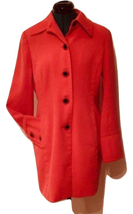 Georgiou Studio Coral Long Coat sz 8 Peacoat