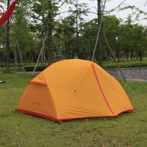 Double Layers Waterproof Tent Aluminum Pole Outdoor Camping Tent 2 Perso... - $210.95