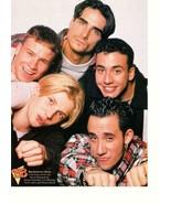 Backstreet Boys Brad Pitt teen magazine pinup clipping Big Bopper hand in hair - $2.50