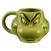 Dr. Seuss How The Grinch Stole Christmas Grinch Sculpted Face 18 oz Cera... - $14.46