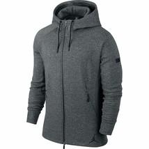 Jordan Jumpman Icon Fleece Men's Full Zip Hoodie Grey-Black 809470-010 - $94.95