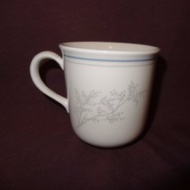Corning Coffee Mug 8 oz Cup White Gray Babys Breath Flower Branch Replacement - $9.99