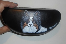Papillon Tri Color Dog Art Portrait Eyeglass Sunglass Hard Case Tri Color - $34.00