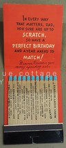 vintage HALLMARK GREETING CARD unused MATCH STICKS rare BIRTHDAY DAD signed - $64.95