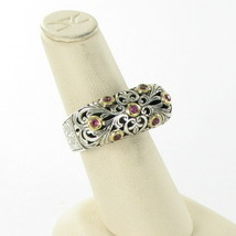 Konstantino Filigree Ring Pink Tourmaline 18K Gold Sterling 925 Sz 7 New... - $654.75