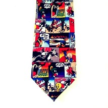 Looney Tunes Mania Novelty Tie Multiple Cartoon Character Print Bright C... - $21.24