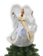 "Avon Angel Christmas Tree Topper Fiber Optic LED Lights 13"" Tall xmas Tr... - $20.53"