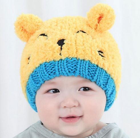 4d25350dd8e 1Pc Cute Cat Knitted Baby Cap