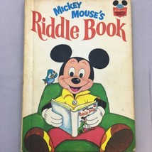 Walt Disney 1972 Mickey Mouses Riddle Book World Of Reading Vintage - $8.99