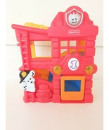 Mattel Fisher Price Lil Zoomers Rattle Roll Fire Station House Lights So... - $10.40