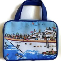 SS Bare Escentuals Make Up Cosmetic Case Blue with Handles 2 Sided Cruise Ship - $8.01