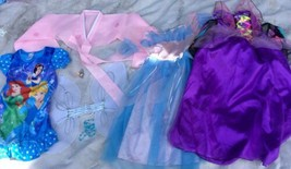 Halloween Disney Princess Dress Up Lot Pretend Play 6 7/8 10/12 - $23.36