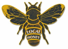 Local Honey Bumble Bee Plasma Cut Metal Sign - $39.95