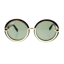 Metal Arrow Emblem Womens Round Circle Lens Designer Fashion Sunglasses - £7.13 GBP