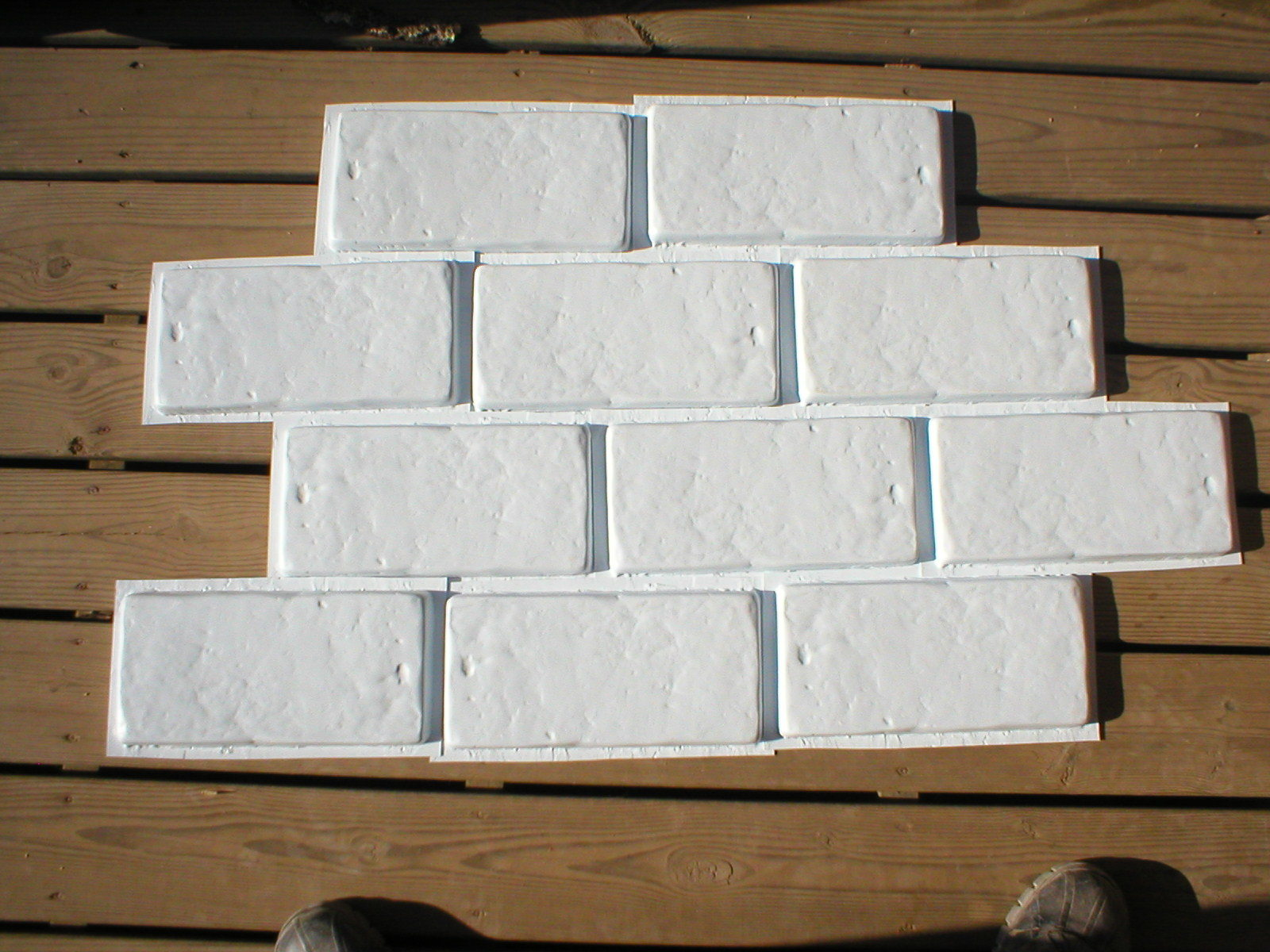 18 Concrete Brick Tile Cobblestone Molds for Walls Patios Walkways Floors 8.5x4""