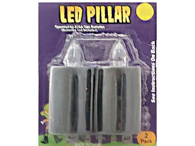 Ankyo 2-Pack LED Pillar Candles, Black #234-02-0636