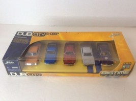 Jada Toys DUB CITY Big Time Muscle 5 Deep Die Cast Cars Shelby Chevy Dodge Cuda - $74.79