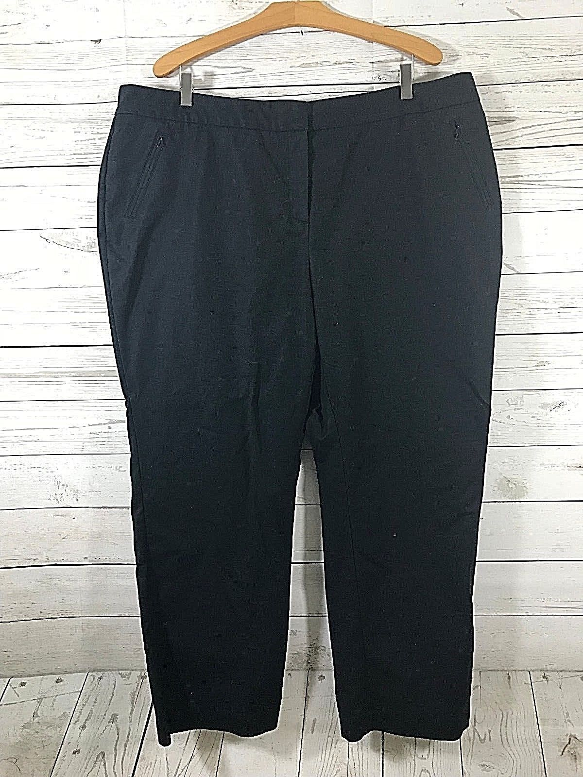 Charter Club Pant Shop Slimming Black Stretch Dress Pants Size 22WP Career