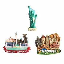 3 Piece Creative Gifts Journey Edition Resin Fridge Magnets - $25.39