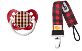Red Hunter Plaid Pacifier and Clip Set - Unisex - Ulubulu - 0-18 Months ... - $12.99