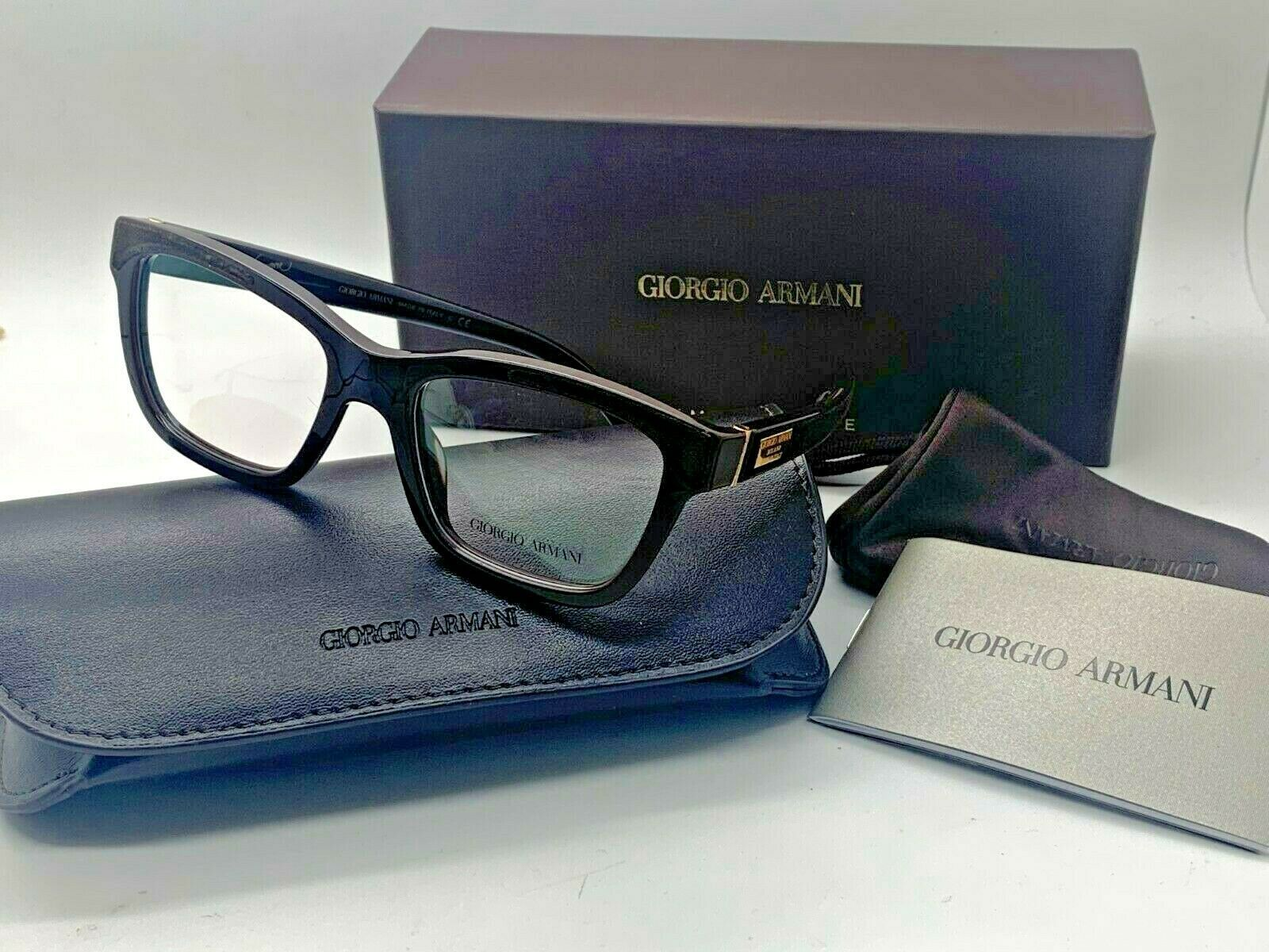 Giorgio Armani BROWN Eyeglasses AR 7019-K 5148 52mm Designer Demo Lenses /ITALY - $77.57