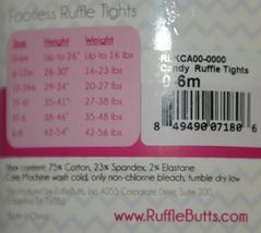 RuffleButts RLKCA000000 Candy Ruffle Tights Hot Pink Size 0 to 6 Months image 6