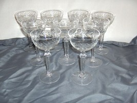 8 Vintage Fostoria Holly Clear Crystal Cocktail Liquor NICE - $123.75