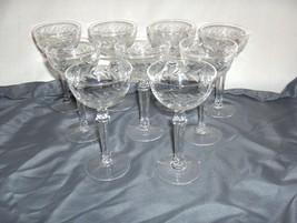 8 Vintage Fostoria Holly Clear Crystal Cocktail Liquor NICE - $123.75