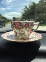 Rosina Teacup & saucer pink flowers - $7.00