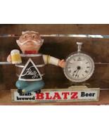 Blatz Beer Advertising Bar Sign Lighted Barrel Man & Clock Vintage Working! - $232.65