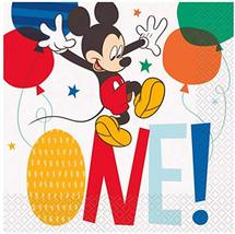 Unique Disney Mickey Mouse 1st Birthday Lunch Paper Napkins - 16 Pcs - $3.91