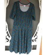 LulaRoe Teal Floral Print dress - $8.00